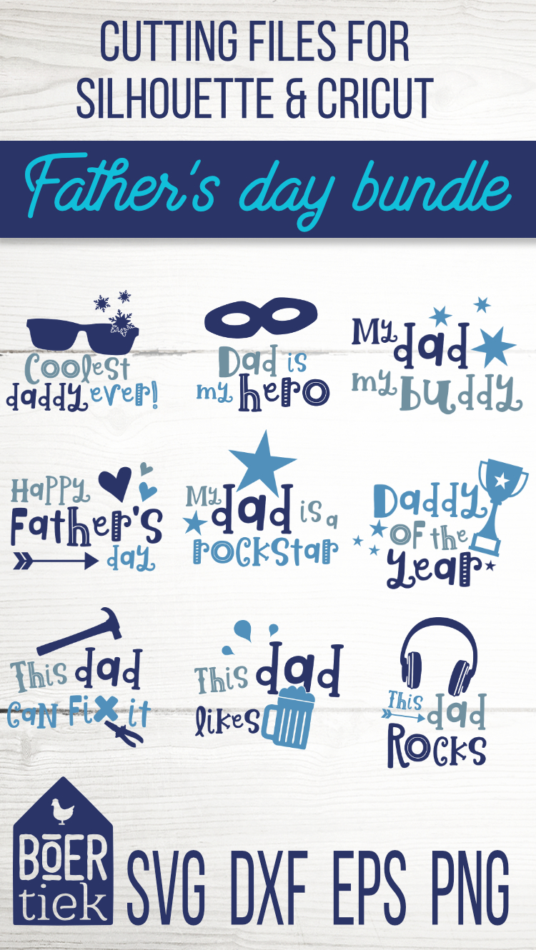 Father's day bundle, great quotes for dads, cutting files example image 2