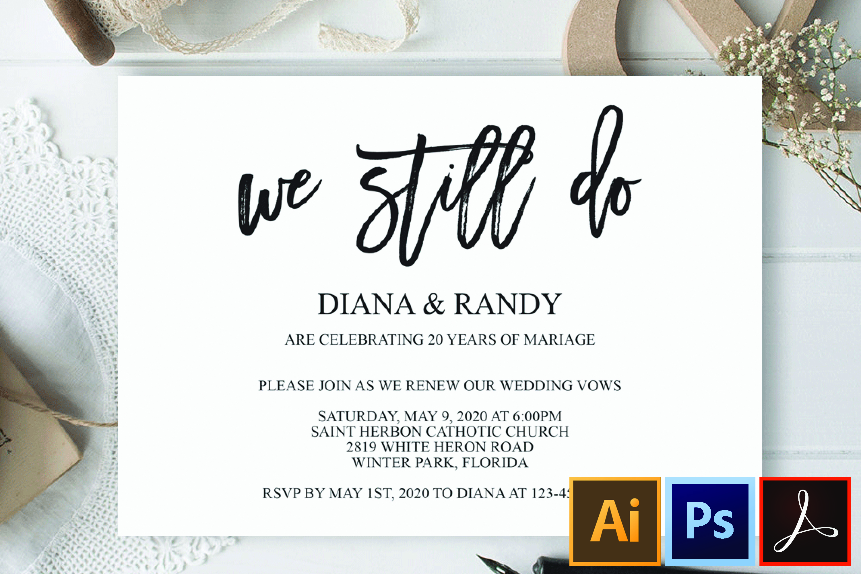 We still do invitation Wedding anniversary invitation example image 1