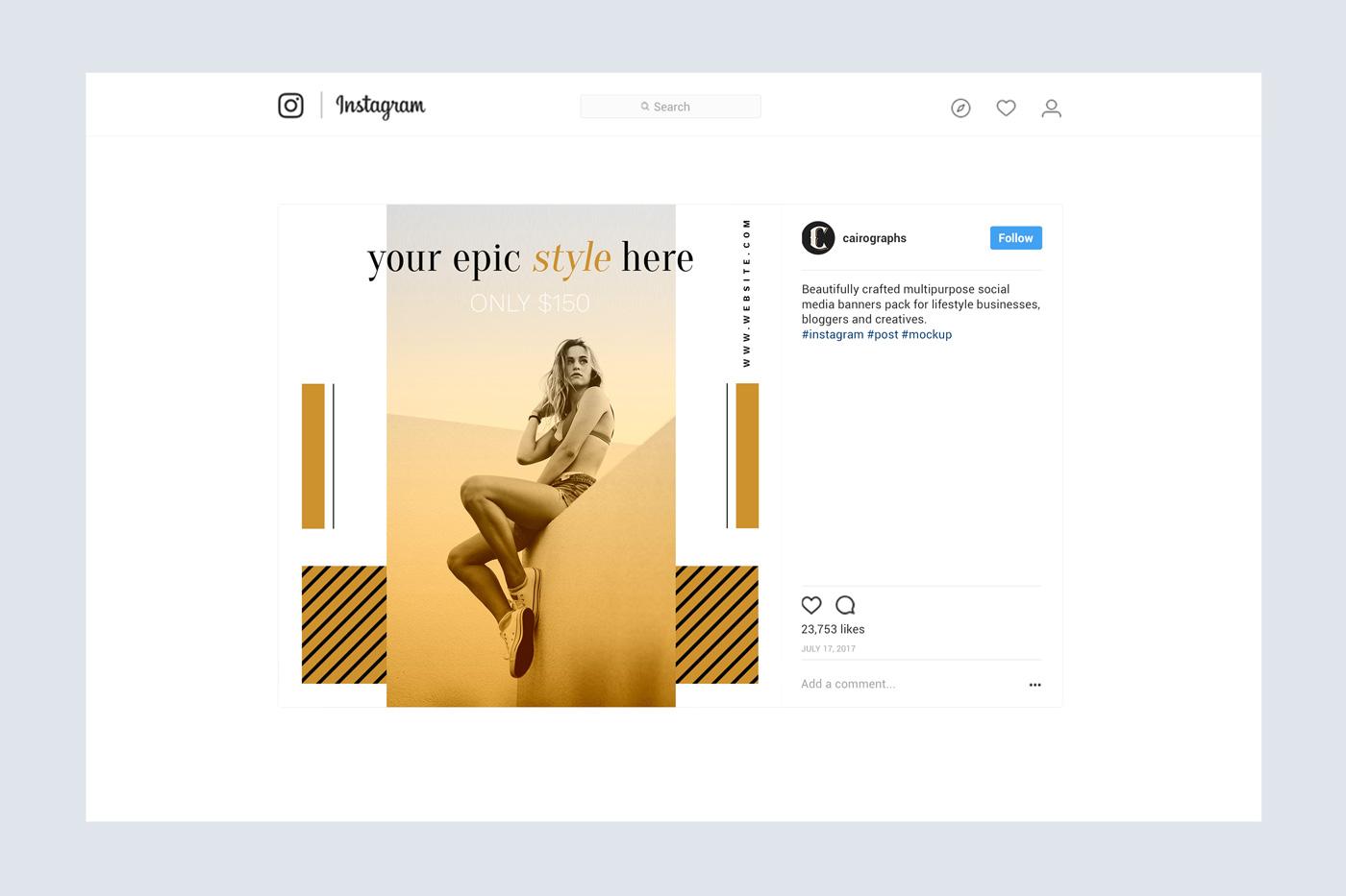 Elegance Instagram Pack example image 7