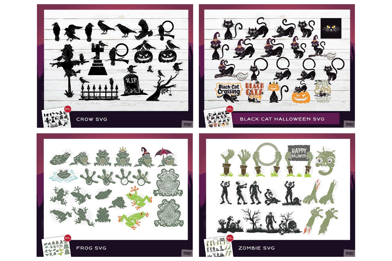 Ultimate Halloween SVG Bundle Vol. 1 & Vol. 2 in SVG & DXF example image 11