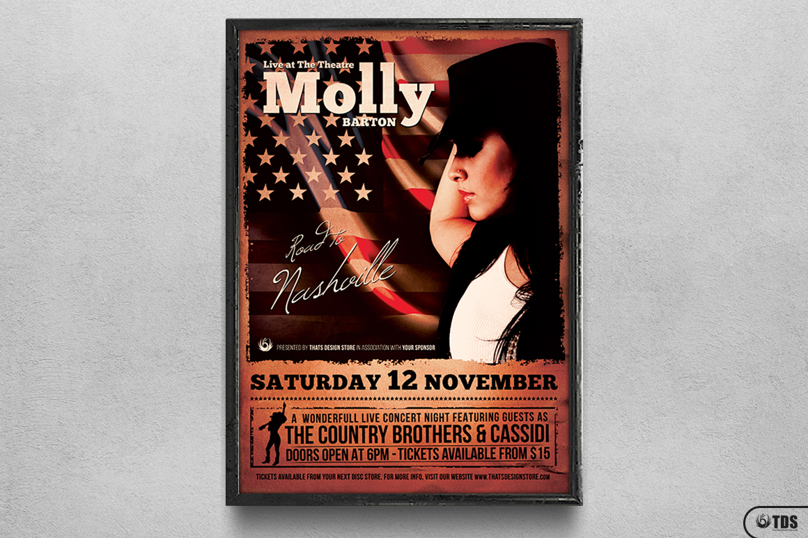 Country Live Flyer Template V2 example image 6