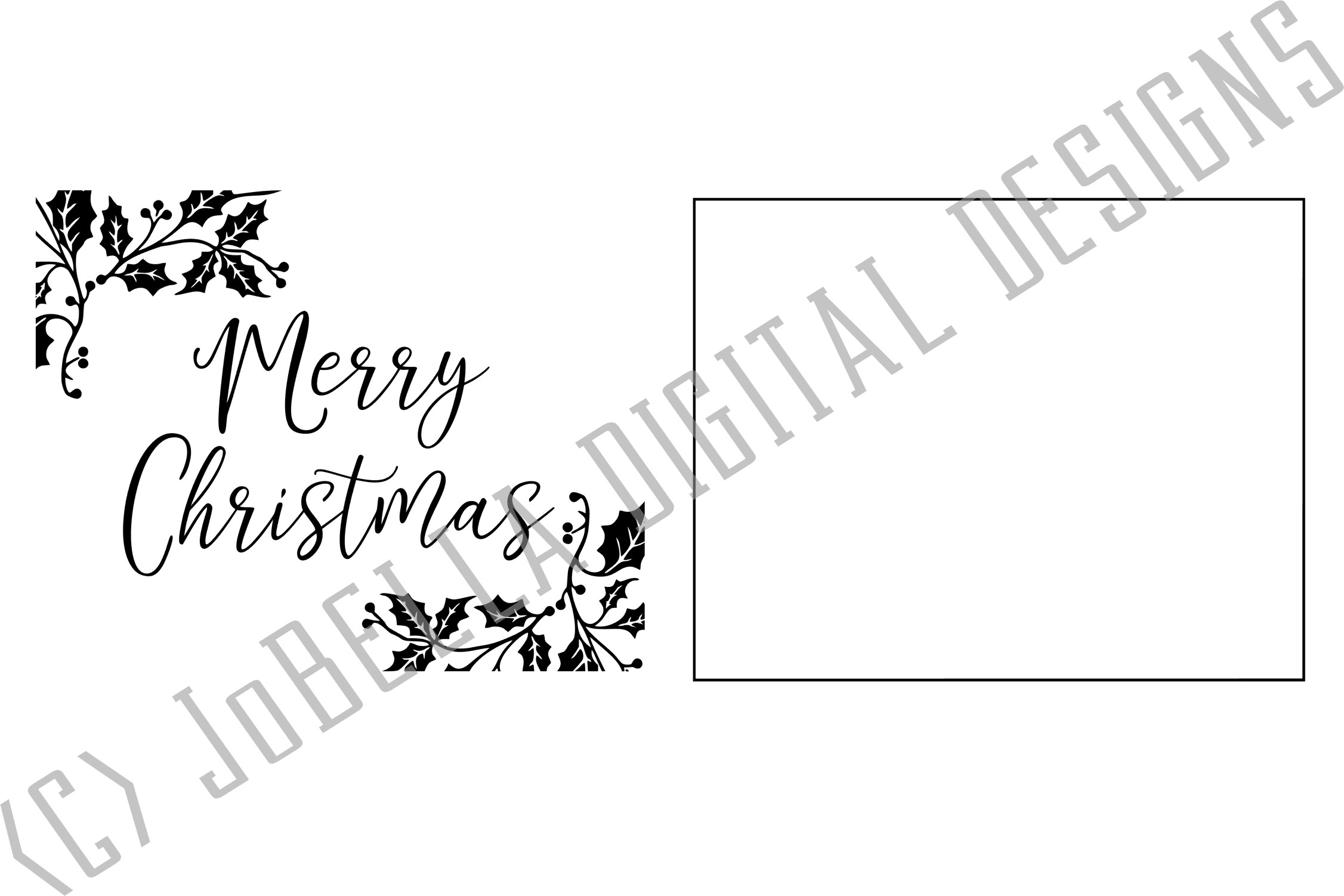 Holly Merry Christmas SVG, Sublimation PNGs, & Printables example image 4
