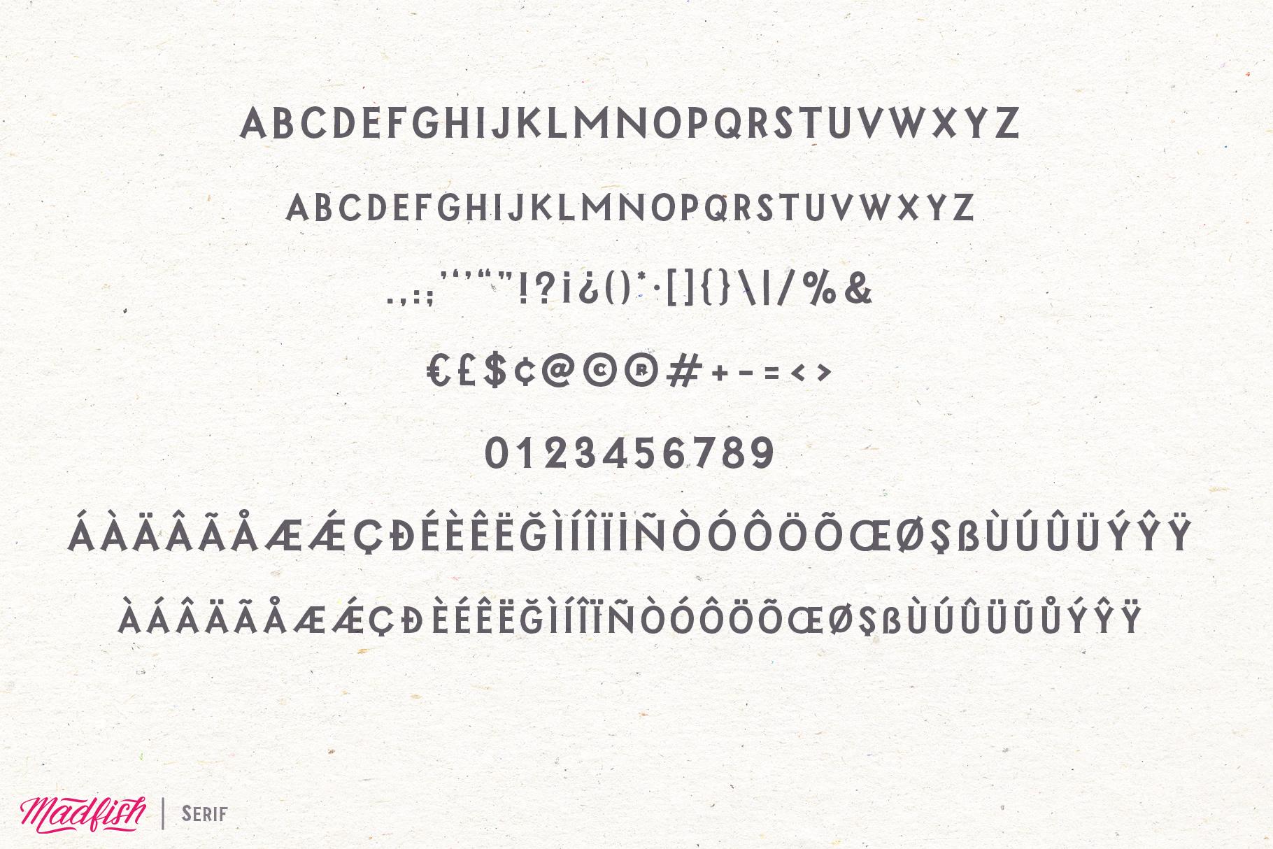 Madfish Font Family  Extras example image 14