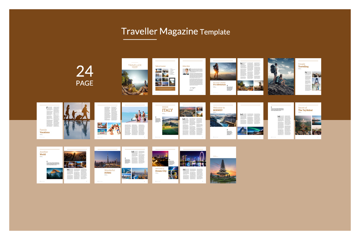 Indesign Magazine Template example image 2