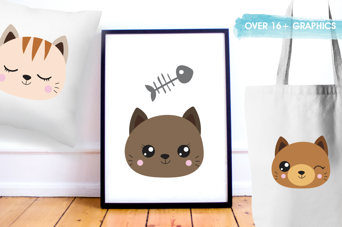 Cats graphic and illustrations example image 3