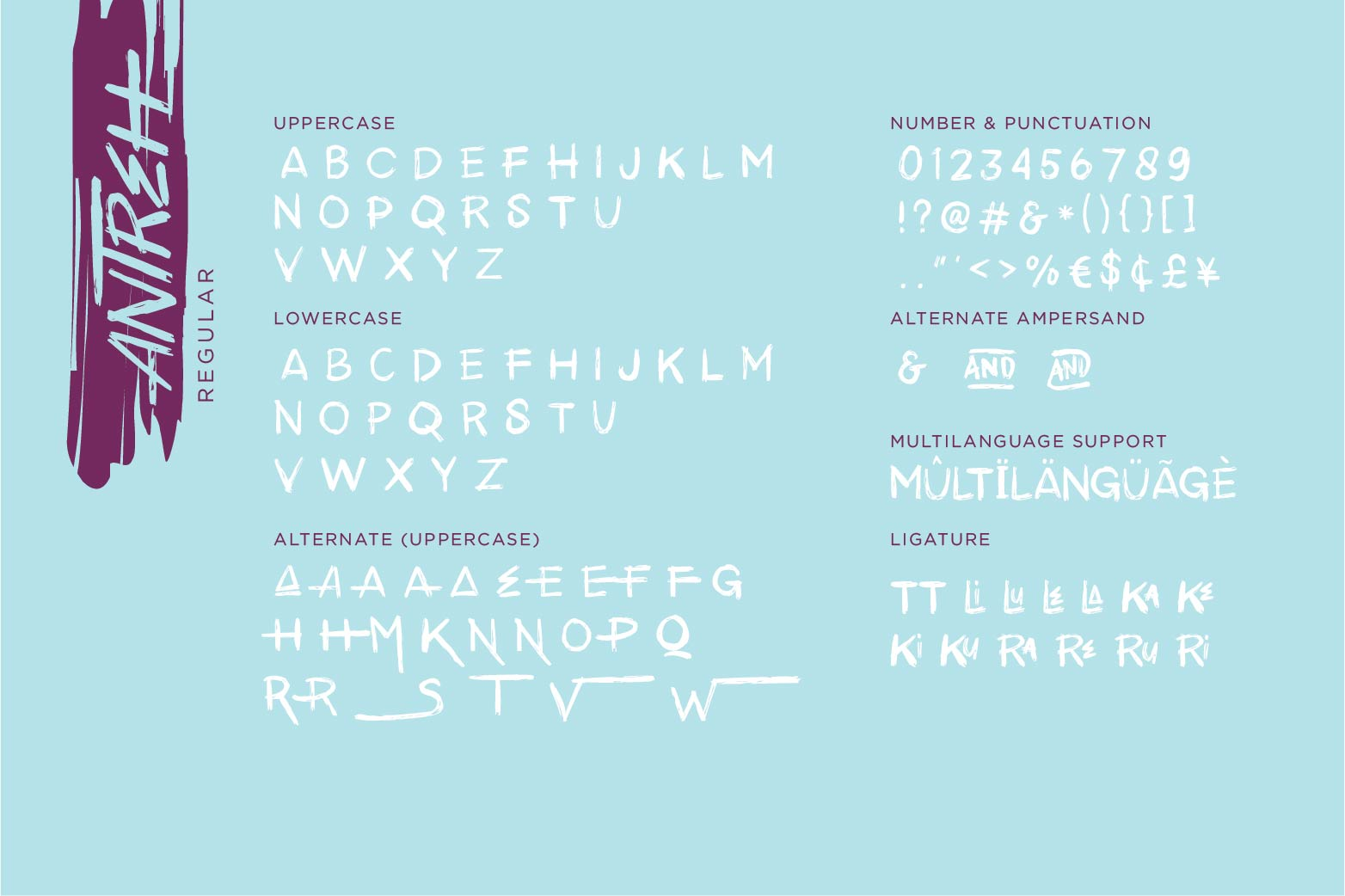 Antreh 2 Font Plus Extra example image 10