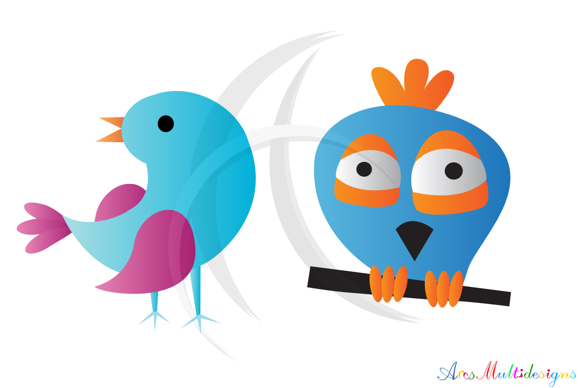 cute birds svg / bird clip art SVG /cute bird vector/ hand drawn doodle cute colourful birds / Eps / Png / printable graphics and illustrations example image 4