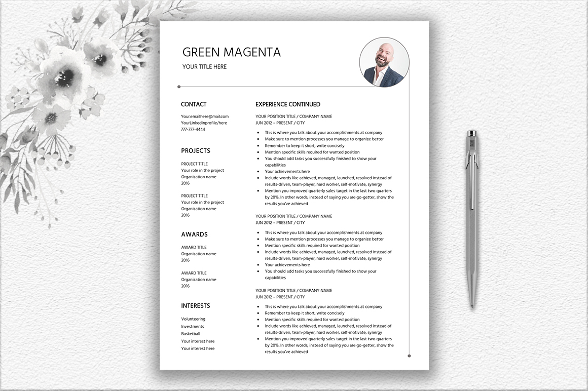 Resume Template Design example image 4
