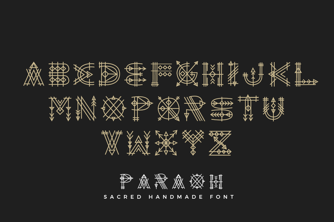 Paraoh - Sacred Font example image 3