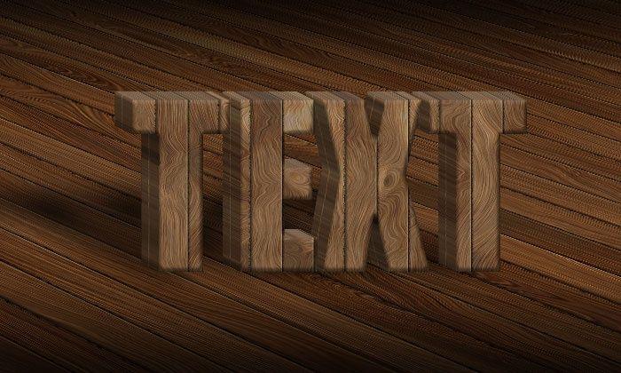 3d Wood Text Styles Kit For Photoshop B Design Bundles