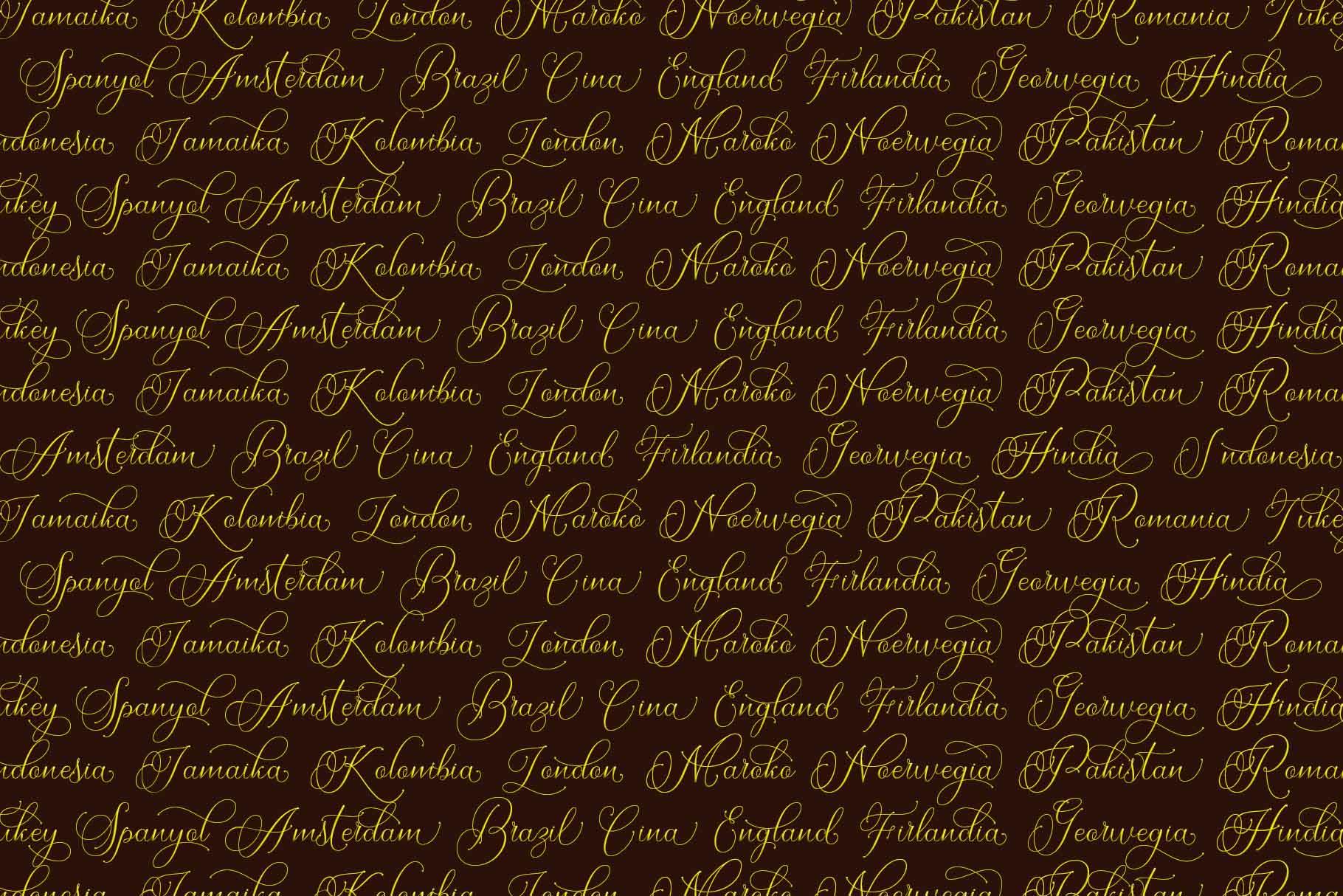 Dellina Script example image 6
