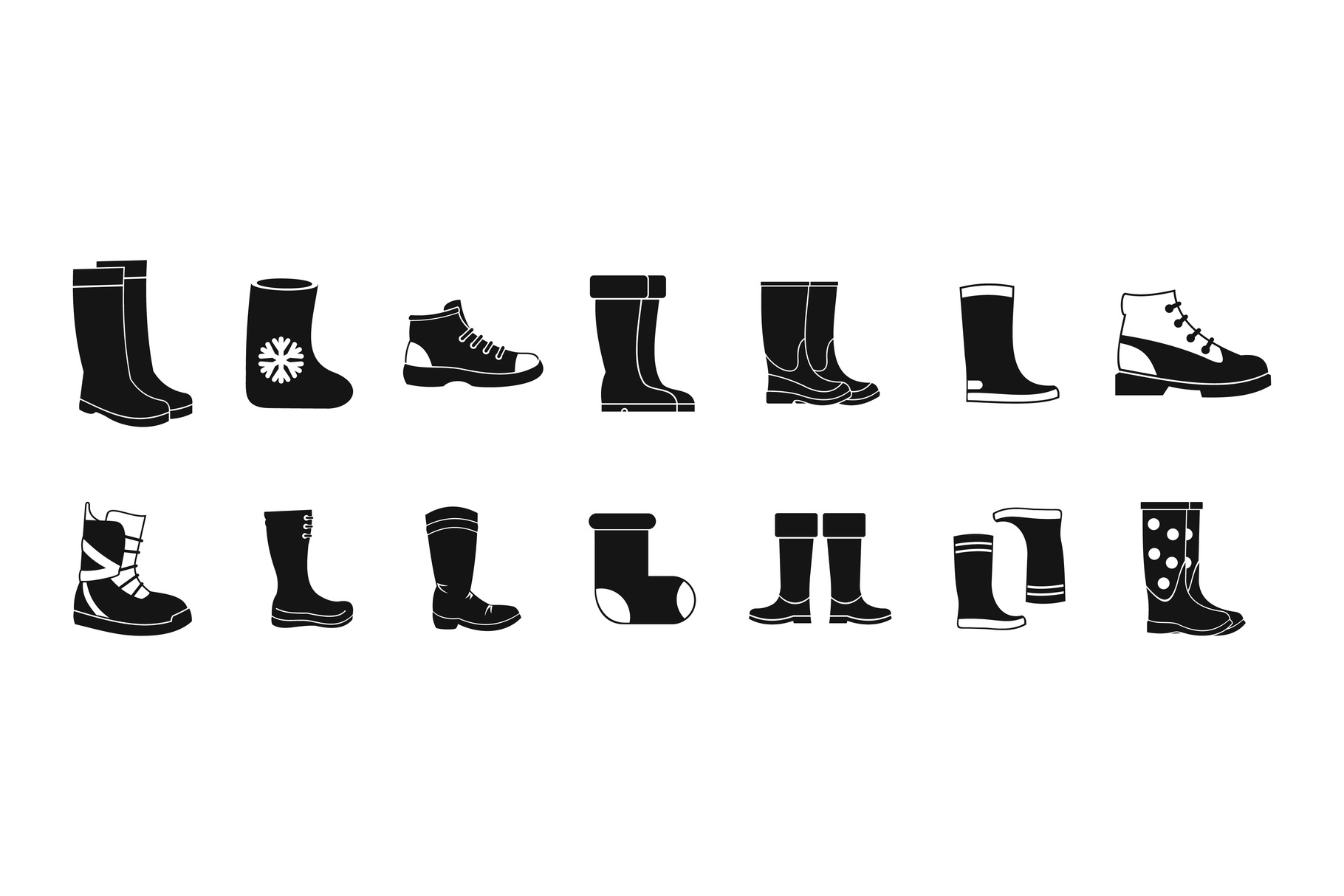 Boots icon set, simple style example image 1