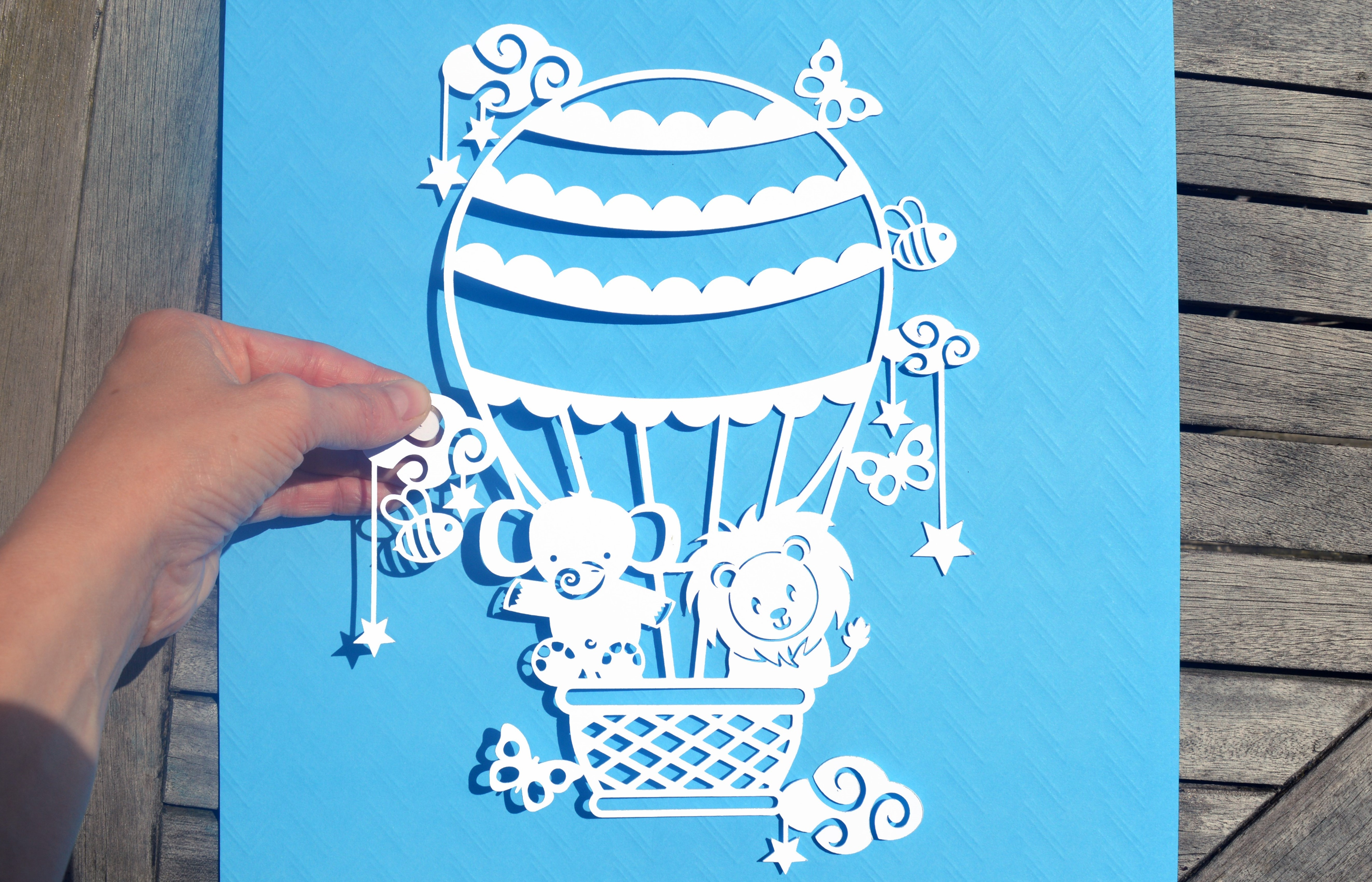 Hot Air Balloon SVG / DXF / EPS files example image 9