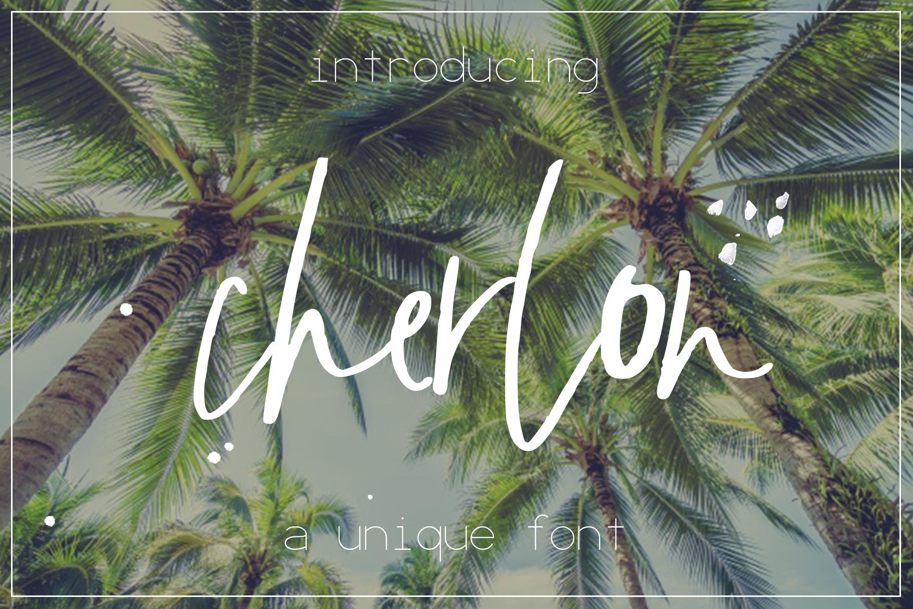 Cherlon Font example image 1
