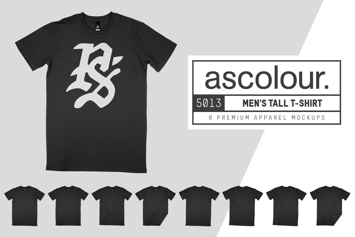 AS Colour 5013 Men's Tall Tee Mocks example image 1