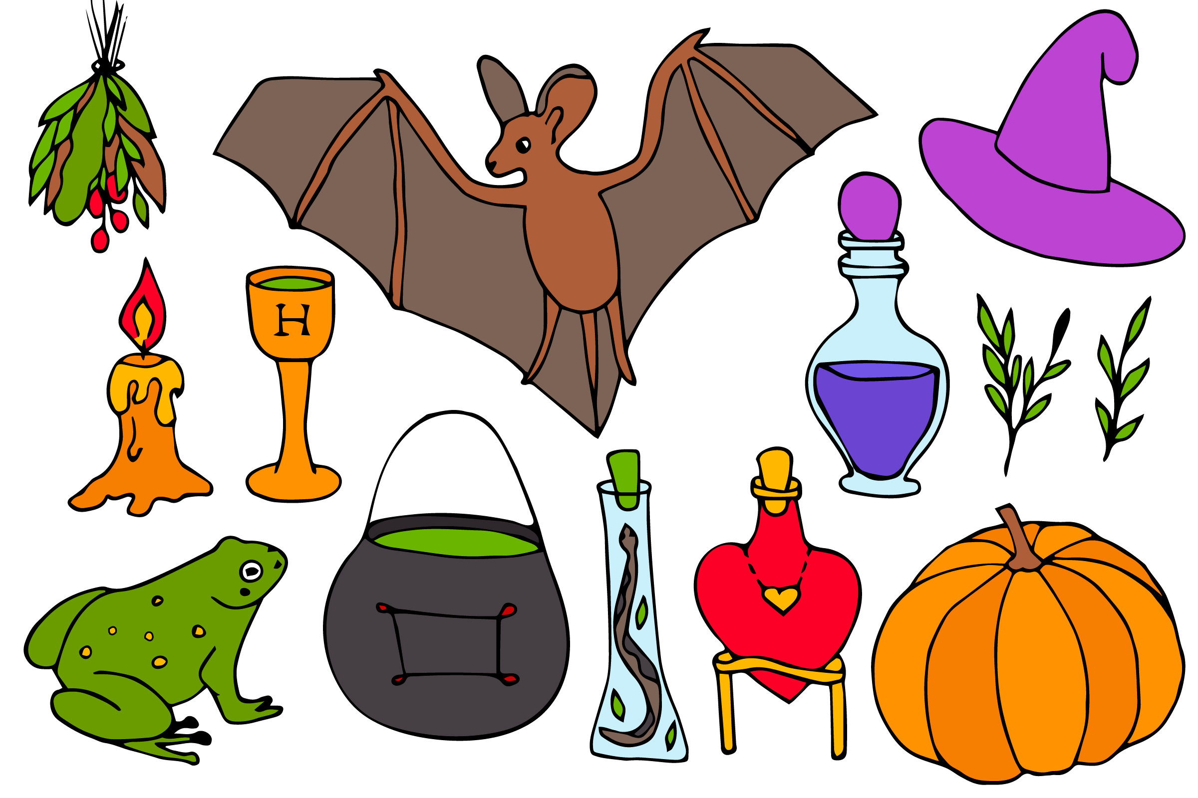 Halloween collection. Patterns, Elements, Posters example image 9