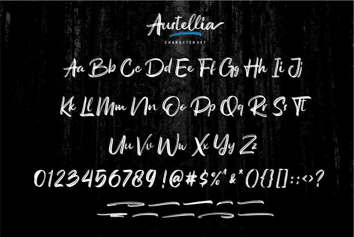 Austellia - Handbrush Font example image 7