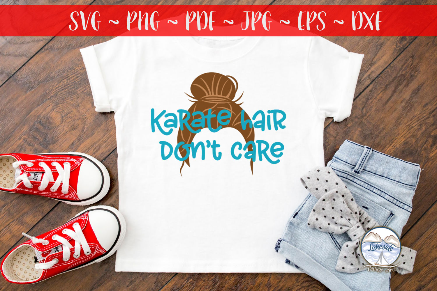 Karate Hair Don't Care- Martial Arts SVG example image 3