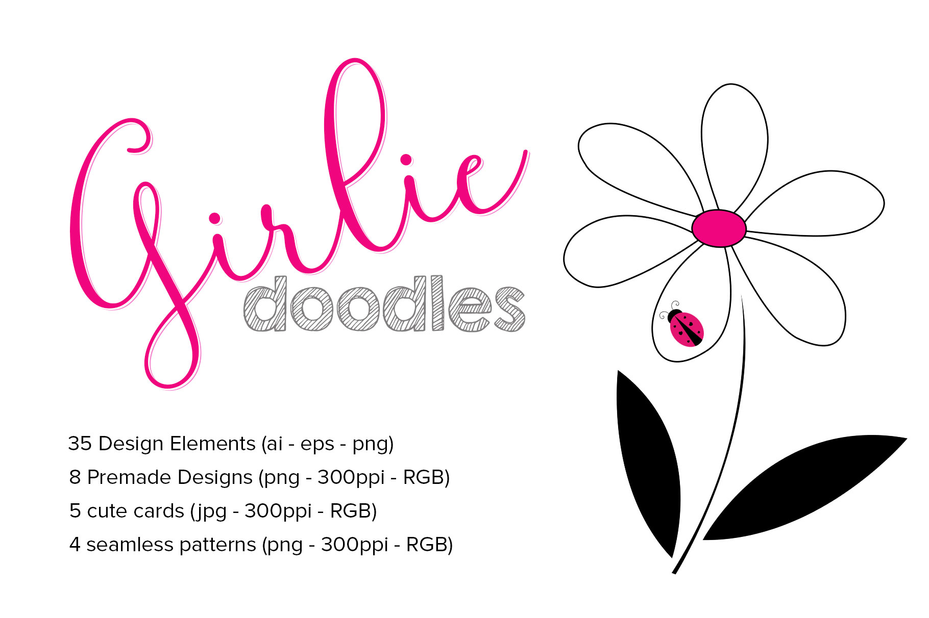 Girlie Doodles example image 1