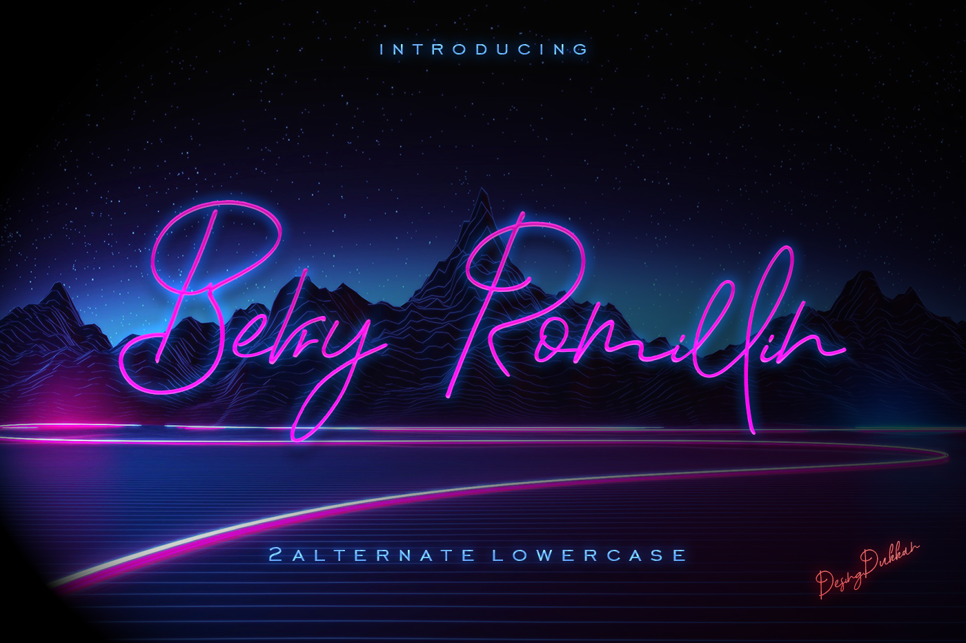 Berry Romillin Script Font example image 1