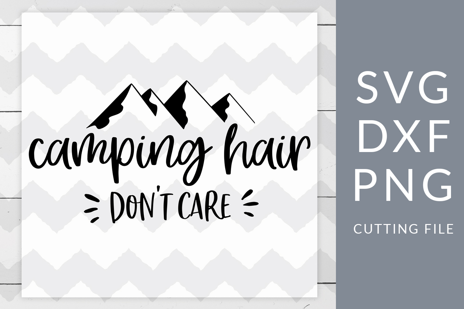 Camping Hair SVG, DXF, PNG, Cut File example image 1