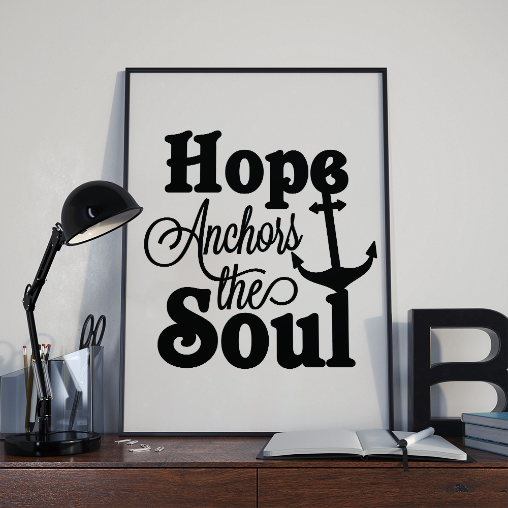 Hope anchors the soul, hope svg, cut file, dxf, eps, svg example image 2