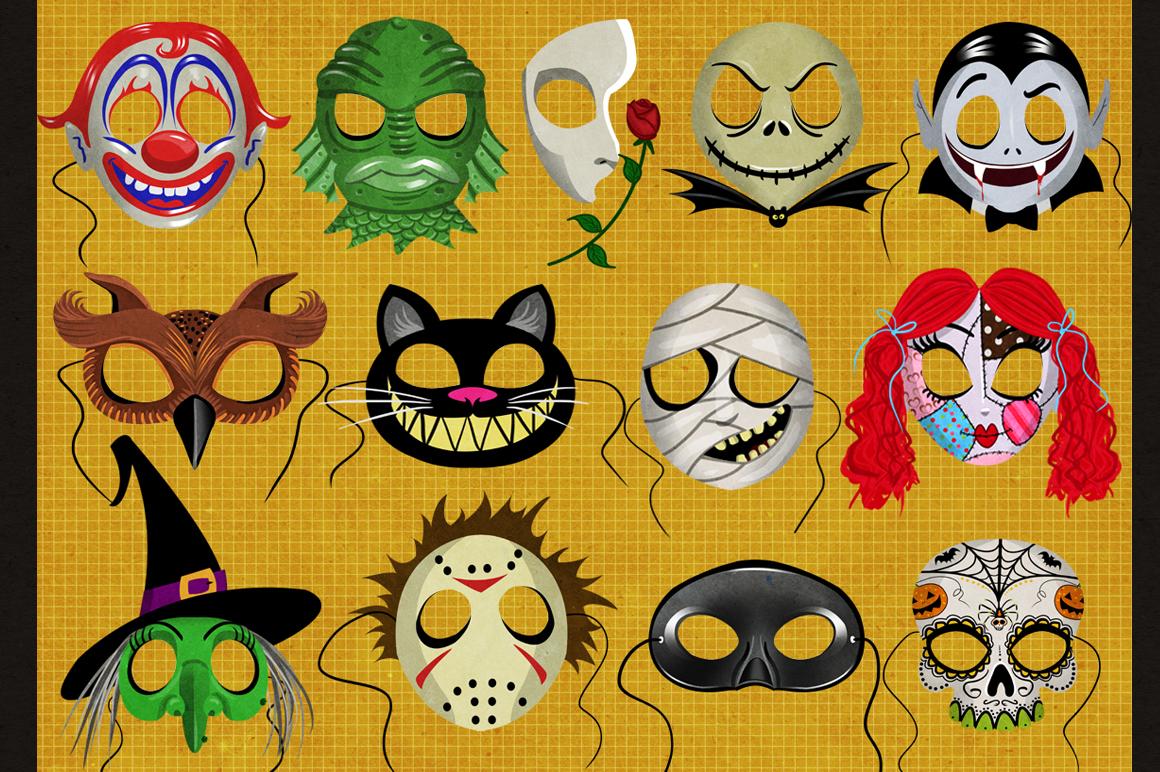19 Classic Halloween Masks example image 2