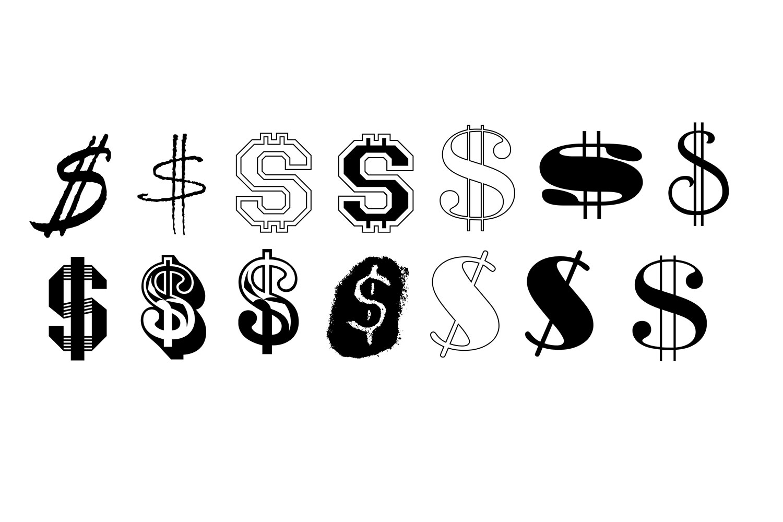 Dollar Sign SVG Bundle - Dollar Sign Clip Art example image 2