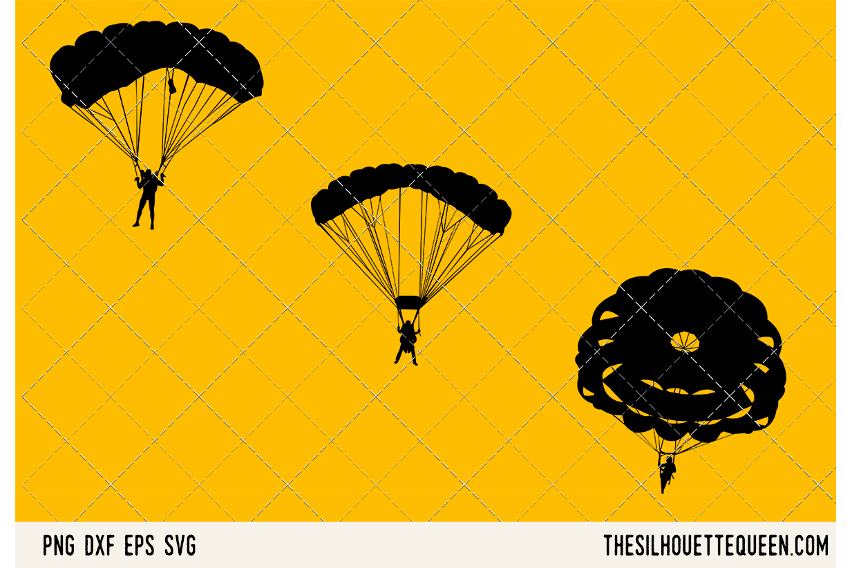 Parachuting SVG example image 1