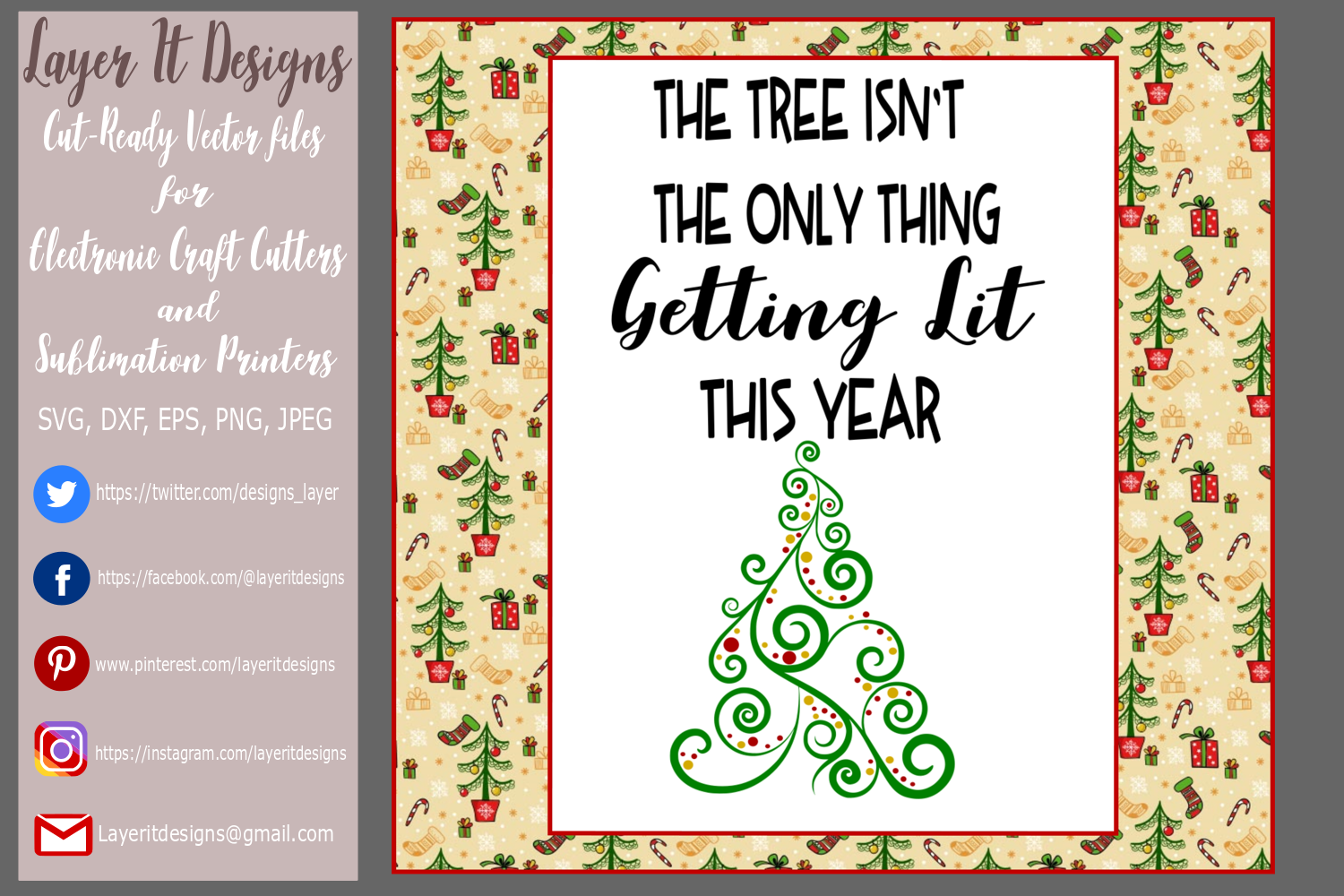 The Tree Isn't The Only Thing Getting Lit This Year design example image 4