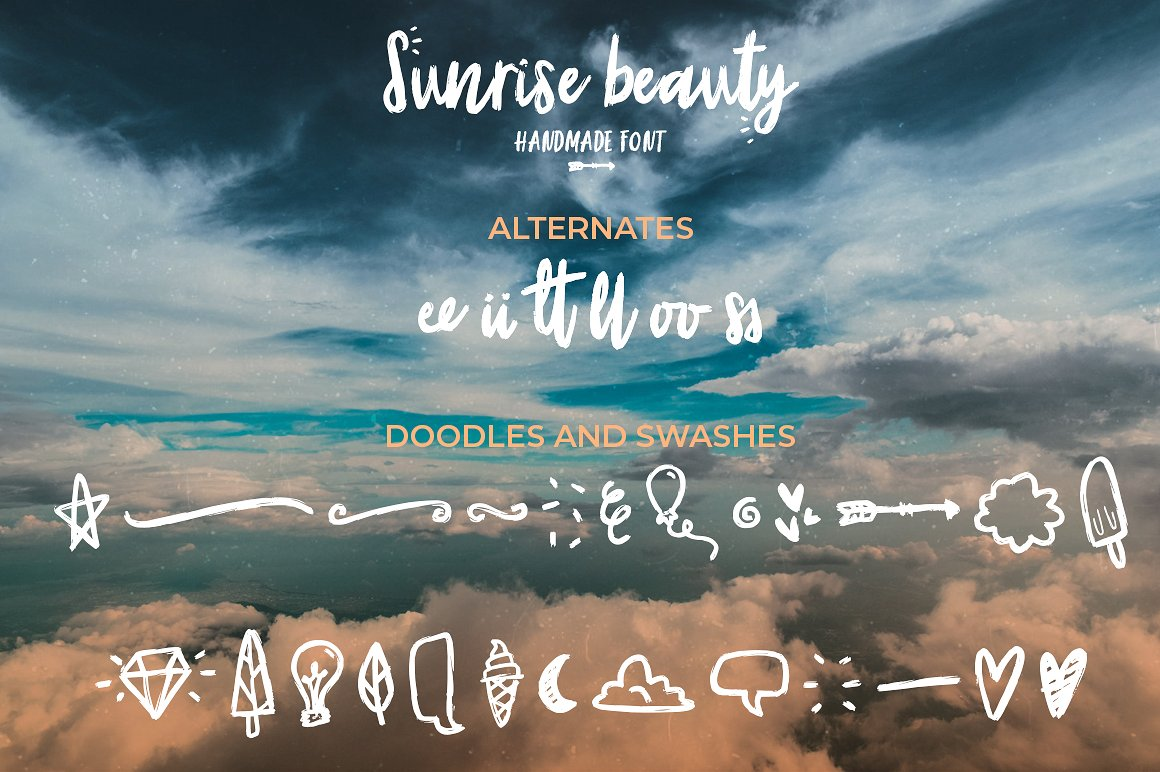 Sunrise | Handmade font and extras! example image 3