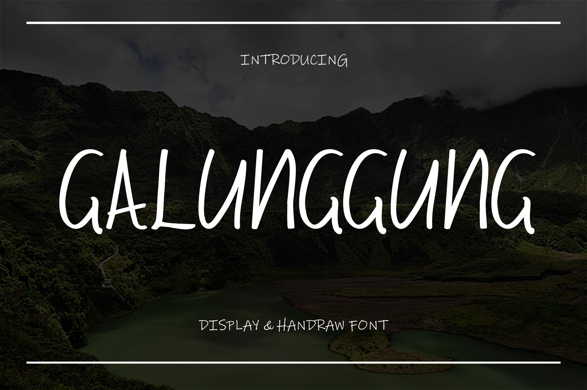 Galunggung // Display & Handraw Font example image 1
