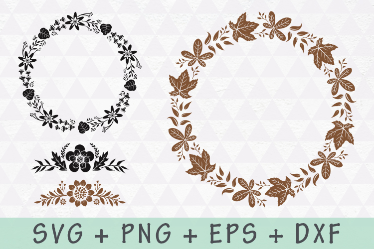 Floral Wreath and Flourishes set example image 7