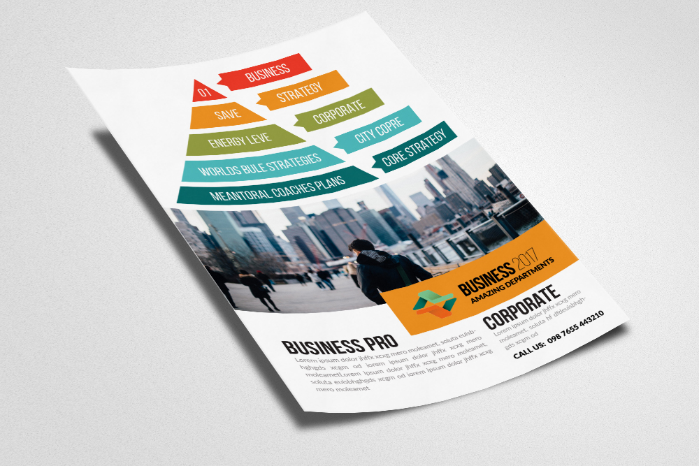 Business Pyramid Flyer Templates example image 2