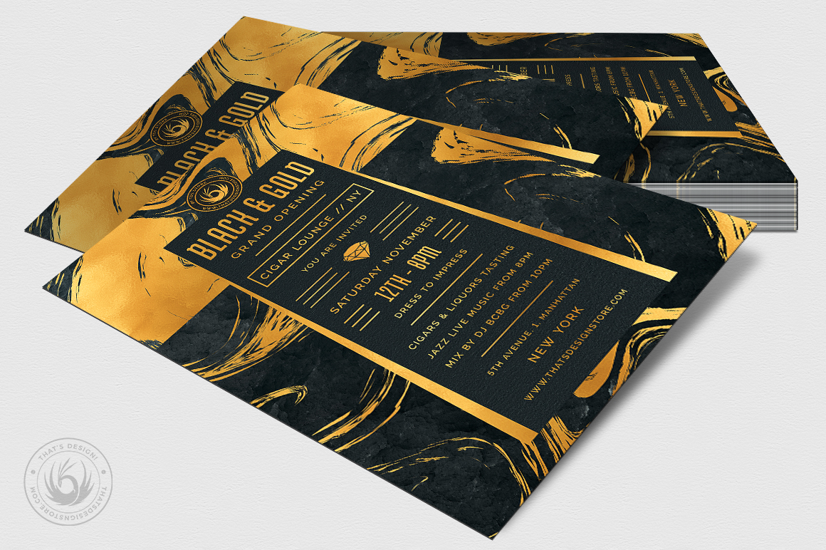 Black and Gold Flyer Template V12 example image 4