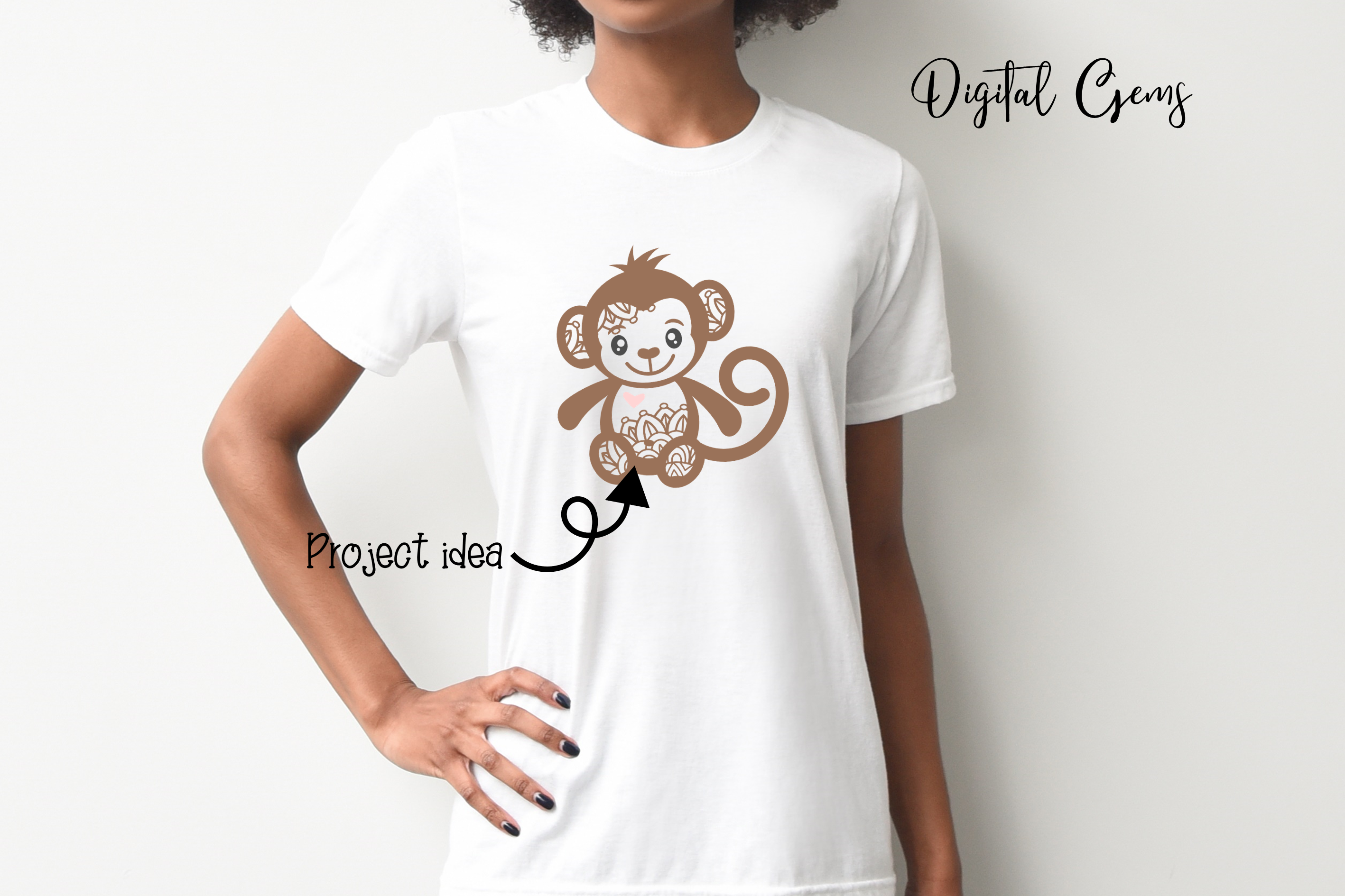 Monkey SVG / PNG / EPS / DXF Files example image 6