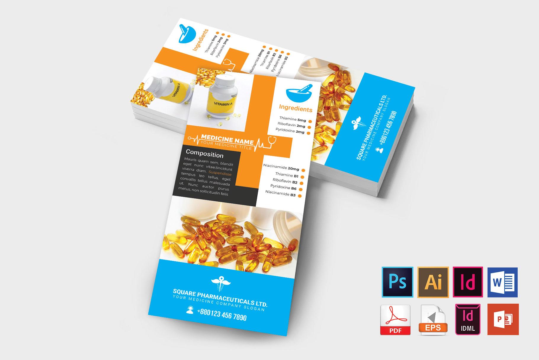 Rack Card | Medicine Promotion DL Flyer Vol-01 example image 2