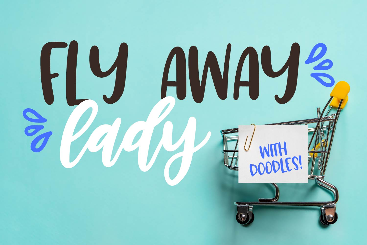 Fly Away Lady - A Trio - Dingbat, Script, Print Craft Fonts example image 1