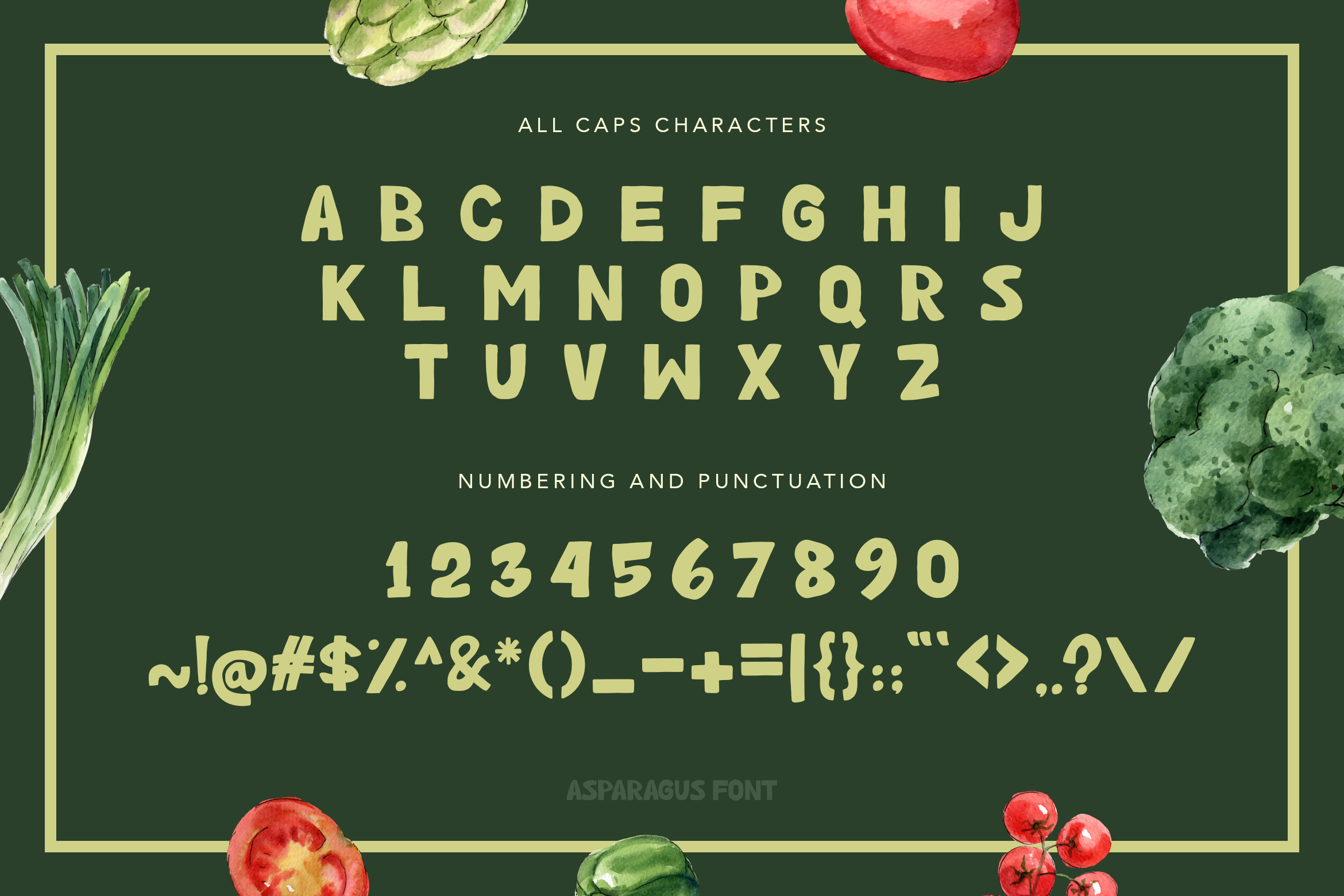 Asparagus Handwritten Font example image 6