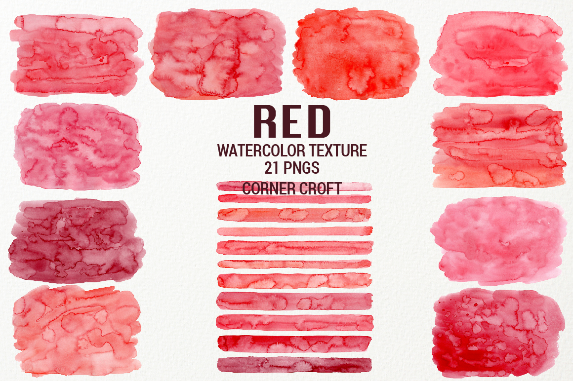 Watercolor Texture Red example image 2
