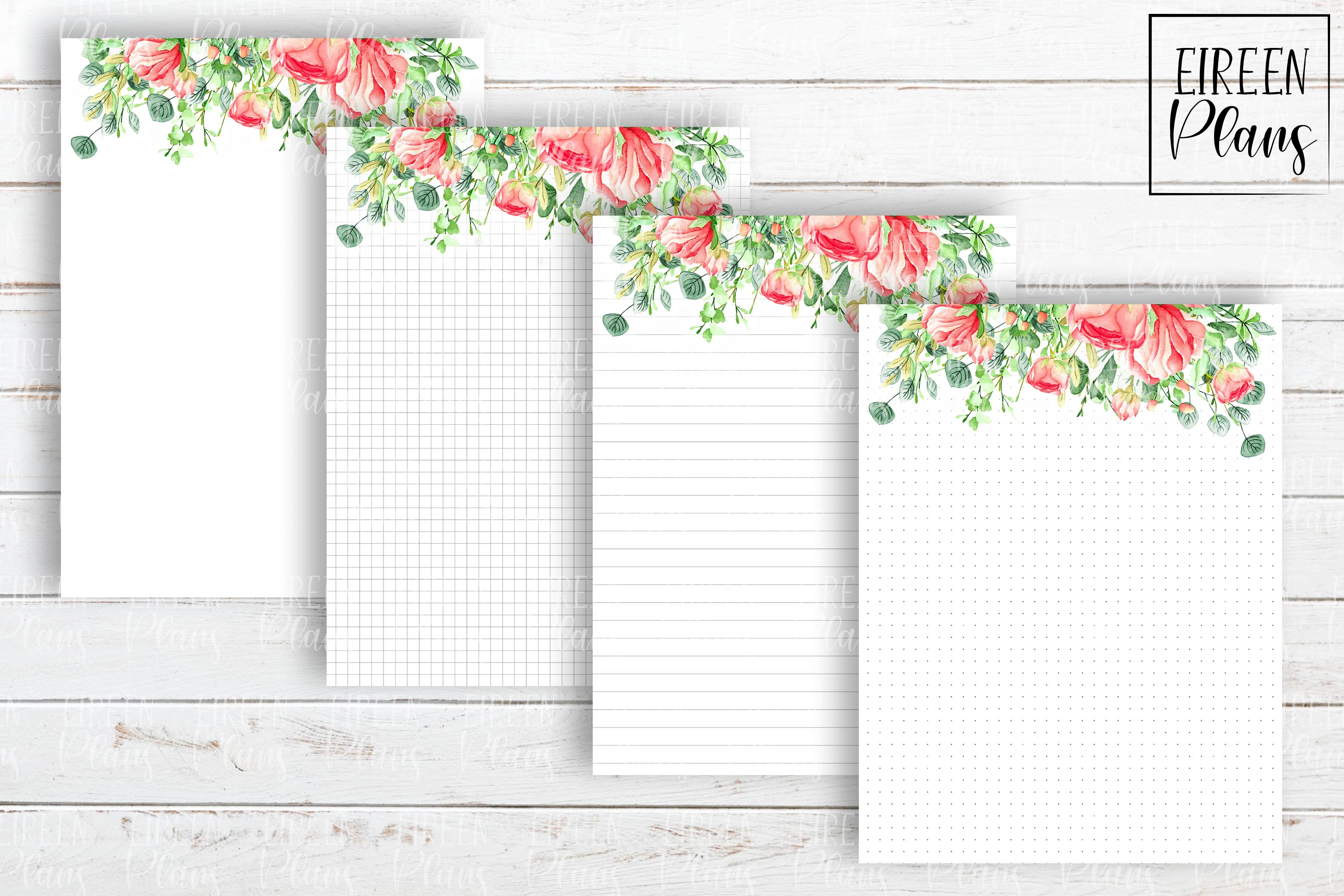Set of floral notes for the Classic Happy Planner example image 2