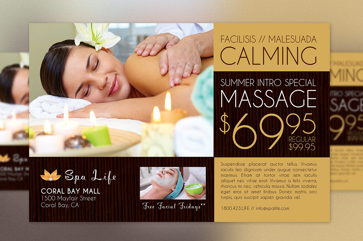 Spa Massage Flyer Template example image 2