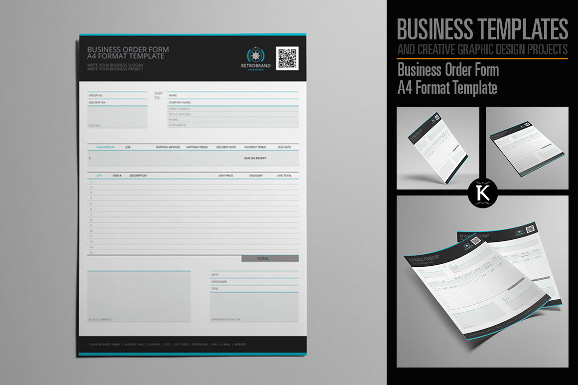 Business Order Form A4 Format Template example image 1
