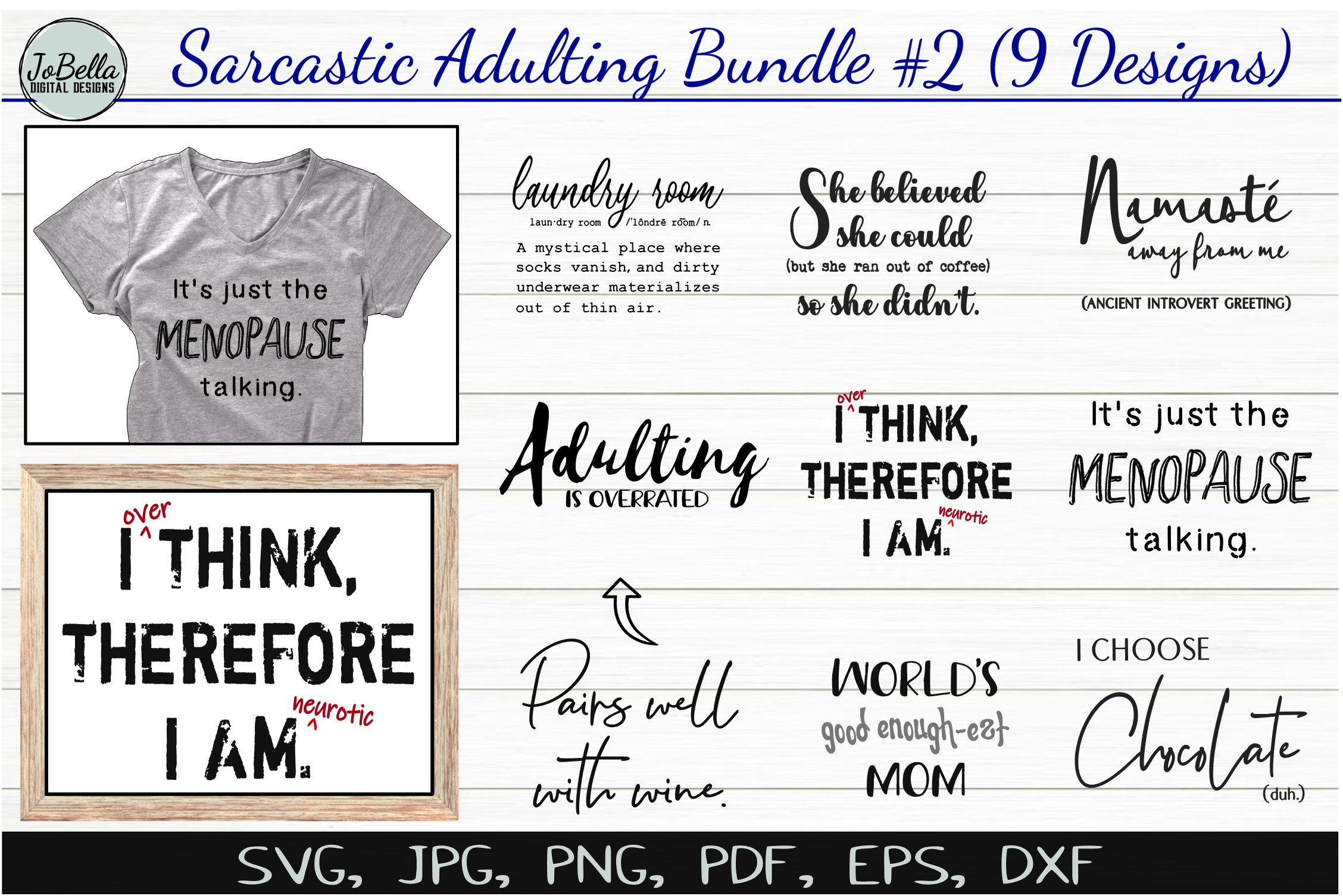 Funny Sarcastic SVG Bundle #2, Sublimation PNGs & Printables example image 1