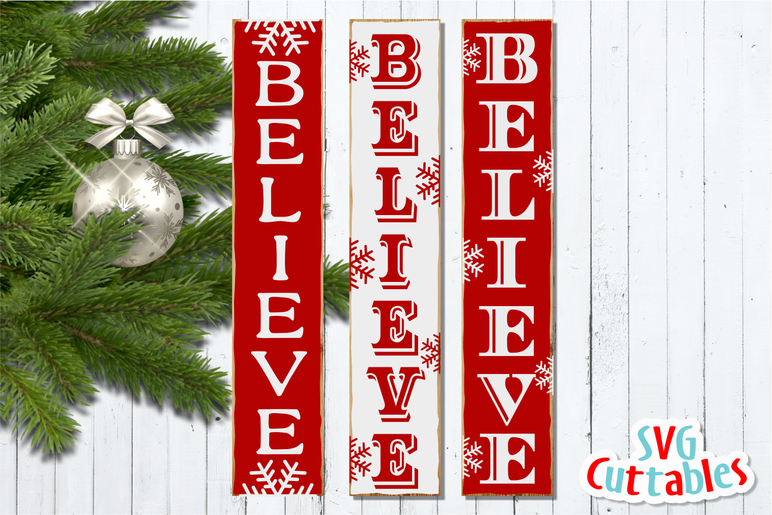 Believe Vertical |Cut File example image 2