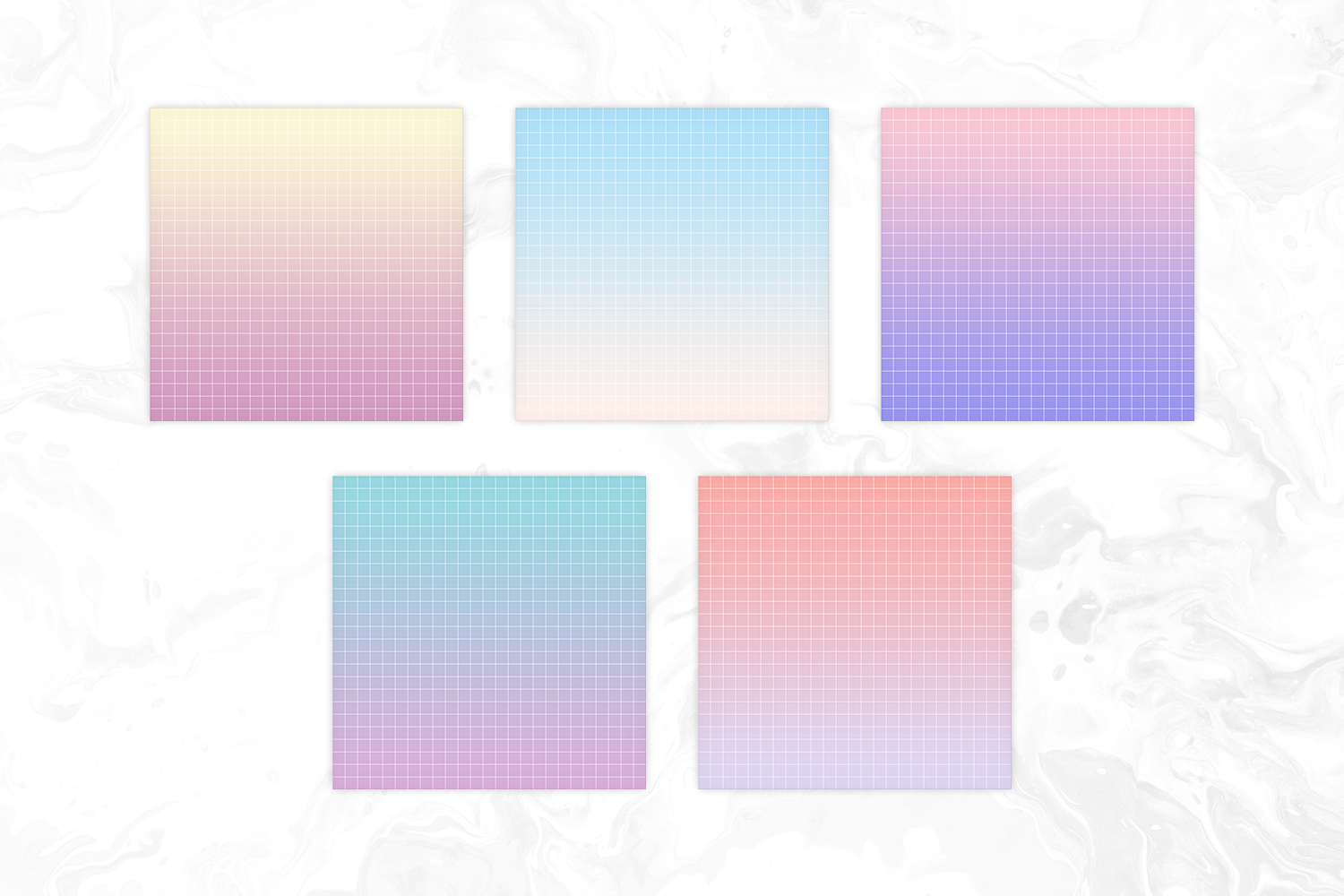 Vapowave Inspired Pastel Gradient Big Grid Backgrounds example image 3