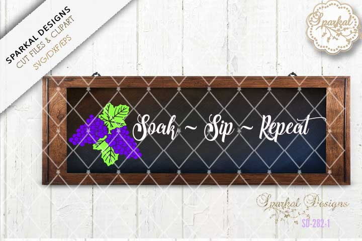 Soak Sip Repeat , Bath Tray Design example image 1