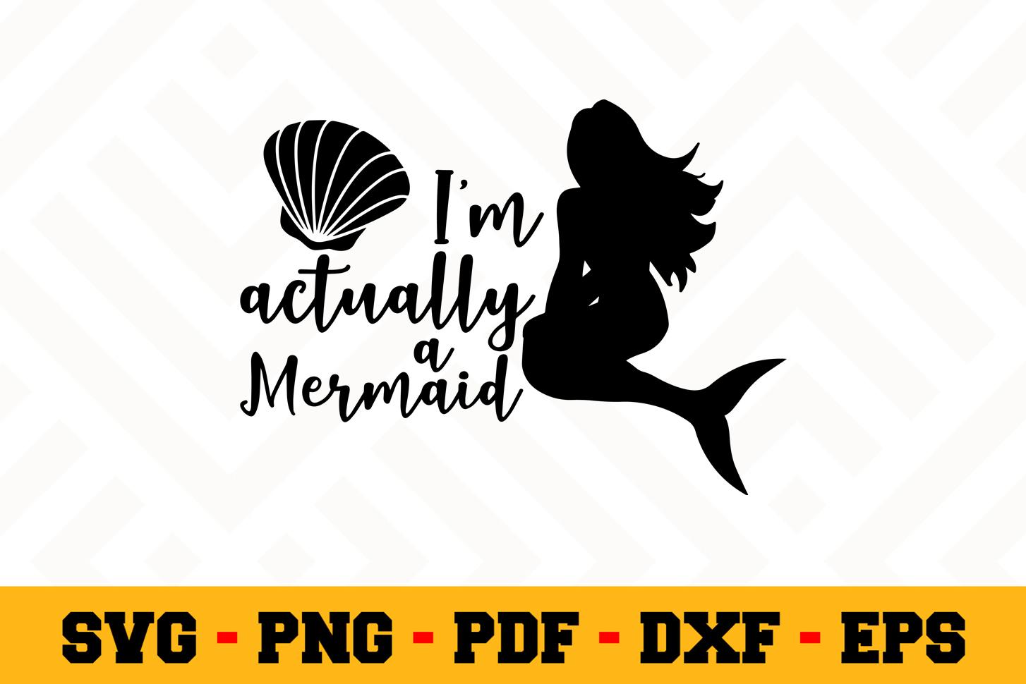 Mermaid SVG Design n532 | Mermaid SVG Cut File example image 1