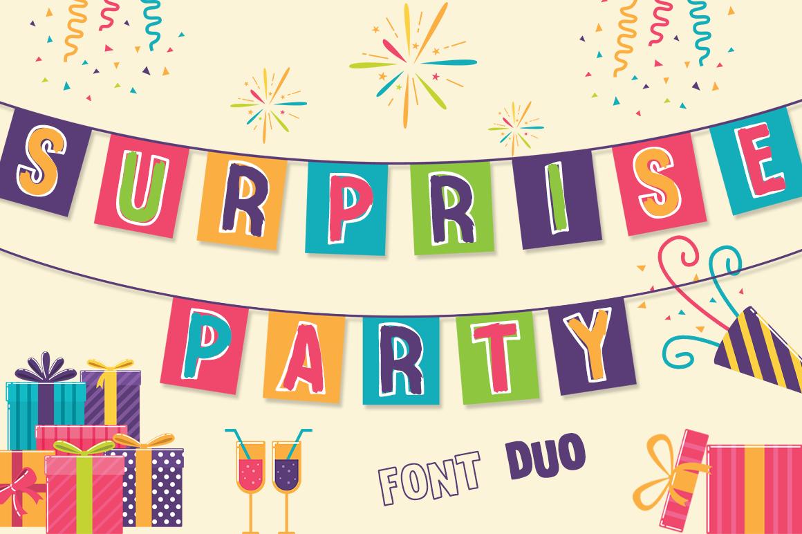 Surprise Party Font Family for Kids, Birthdays and Fun! example image 1