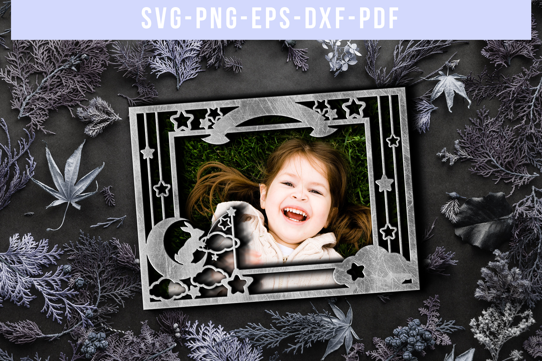 Customizable Landscape Photo Frame Papercut Template, PDF example image 5